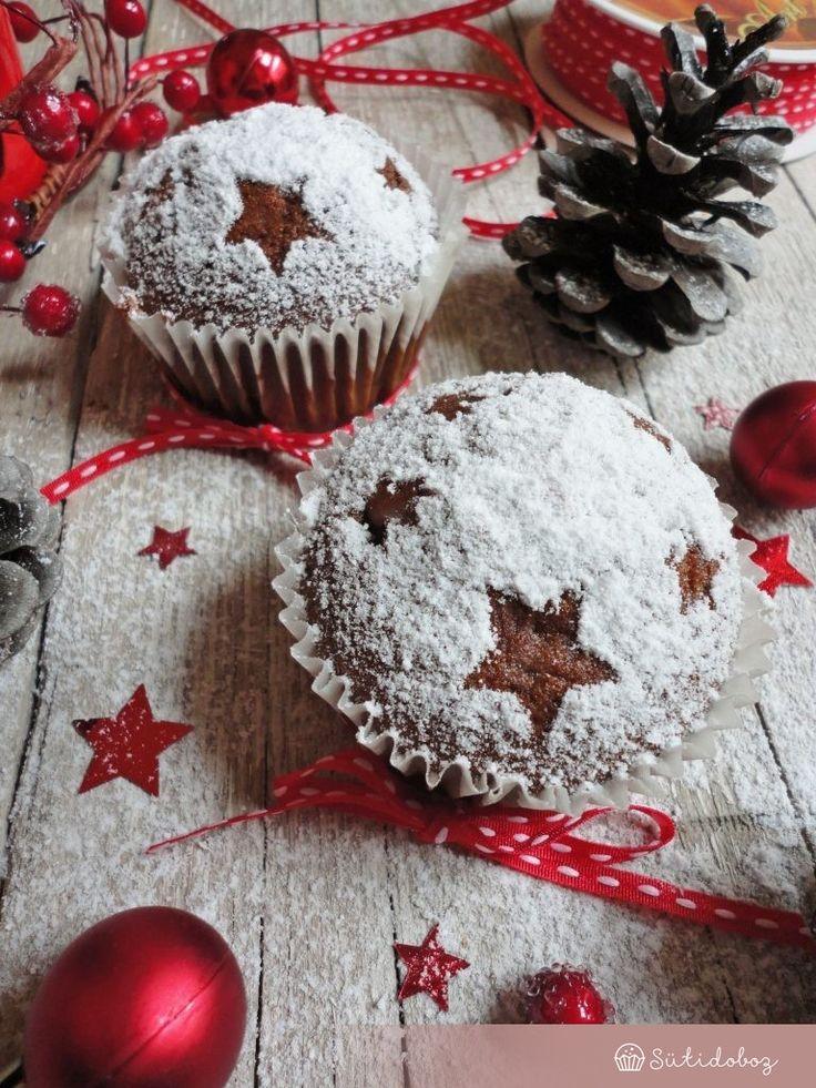 Sült almás karácsonyi muffin