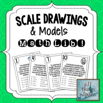 Scale Drawings & Models Math Lib Activity