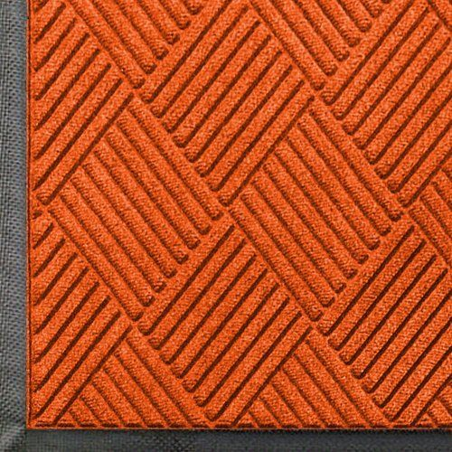 """Andersen 208 Orange Polypropylene WaterHog Classic Diamond Entrance Mat, 6' Length x 4' Width, For Indoor/Outdoor by Andersen. $103.46. Perfect for most applications inside or out, WaterHog Classic Diamond's unique design makes it revolutionary. The rubber reinforced face nubs and diamond design provide crush proof scraping action. The raised rubber """"water dam"""" border traps dirt and water – keeping them off carpet and floors. Premium 24 oz/sq anti-static Polypro..."""