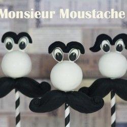 Monsieur Moustache cake pops | Féerie cake