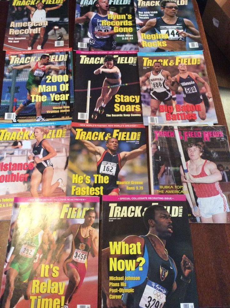 eleven issues of track and field news from $10.0