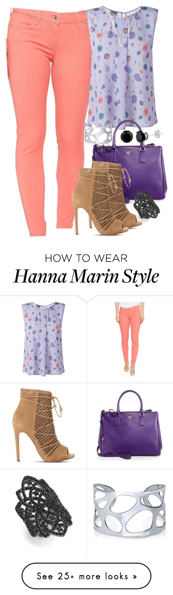 """Hanna Marin Inspired"" by smirnova-varya on Polyvore featuring Levi's, Armani Collezioni, Prada, Steve Madden, Links of London, BERRICLE, nOir, PrettyLittleLiars, pll and hannamarin"