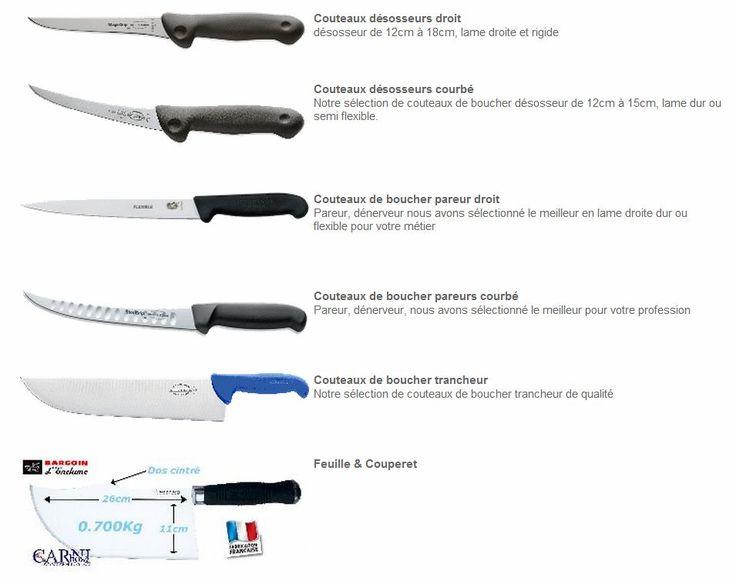 SOGESTS Couteaux De BoucherCouteau De Cuisine Professionnel - Couteau de cuisine professionnel pour idees de deco de cuisine