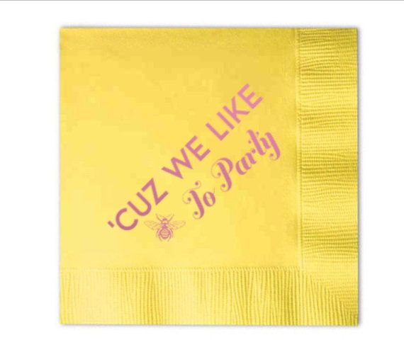 Beyonce cocktail napkins perfect for a bachelorette party! Wedding