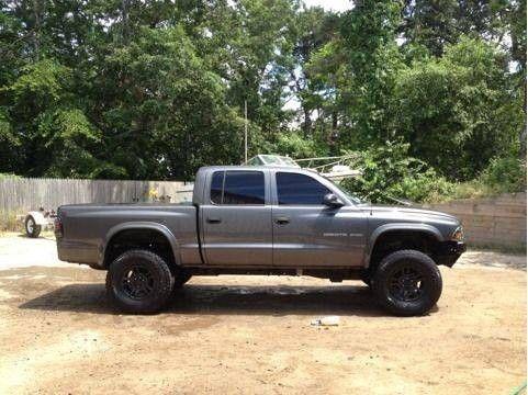 lifted dodge dakota truck   Lifted Dodge Dakota 2002 Quad Cab 33's Dual Turndowns Rollpan 1% Tint ...