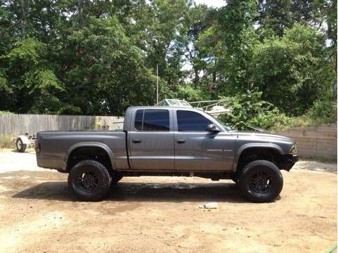 lifted dodge dakota truck | Lifted Dodge Dakota 2002 Quad Cab 33's Dual Turndowns Rollpan 1% Tint ...