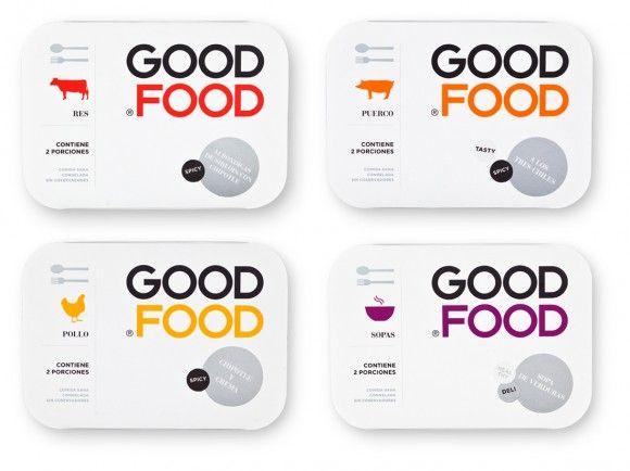 Упаковка замороженных обедов Good Food – студия Face