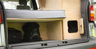 VW Transporter conversion - Rear boot