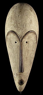 African Mask - Classic Fang Mask from Gabon, Africa