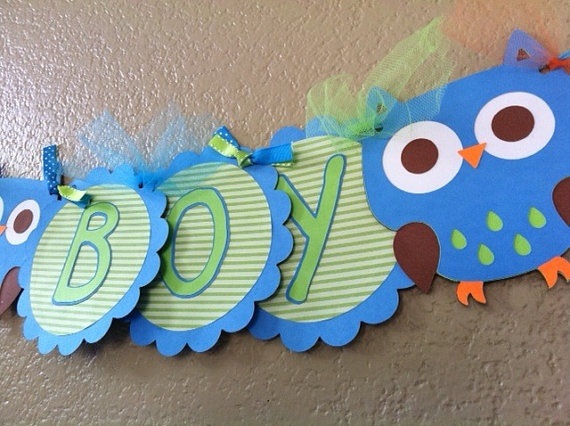 Owl baby shower banner - could use it to say welcome or something like that