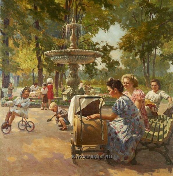 НХ «Фонтан в Мариинском парке» 1950-е