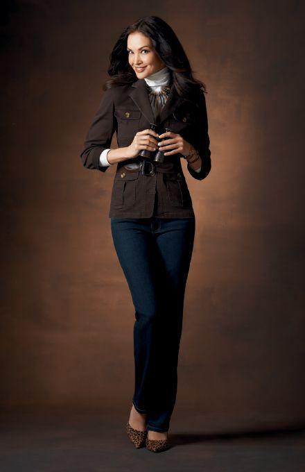 Jockey Person to Person - Fall 2013  Bedford Weave Jacket - Black Coffee  Turtleneck - Marshmallow  Modern Straight Leg Jean - Dark Denim  jockeyp2p.com