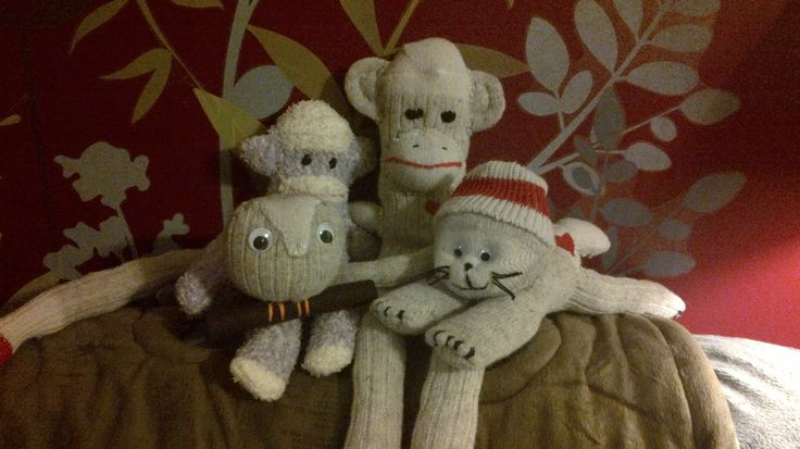 Couldn't resist making these sock animals and fun!