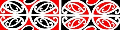 Kowhaiwhai is a form of Maori decoration that takes the form of abstract curved pattern work. These painted decorative patterns usually portrayed in traditional colours of red, white and black, are often placed within Maori meeting houses. The rafters of these houses are covered in Kowhaiwhai work. However, this form of decoration was never limited in the past to meeting houses as the pattern work could be found on a number of objects from water carriers to canoes.