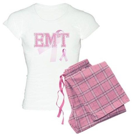 EMT initials, Pink Ribbon, Pajamas on CafePress.com