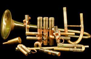 Monette trumpet stripped to its bones.