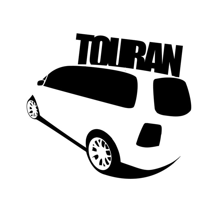VW Touran Car Decal (left)