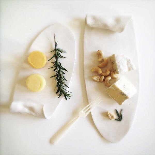 Klomp Ceramics porcelain Fold Platters. Shop these one-of-a-kind porcelain platters at klompceramics.com