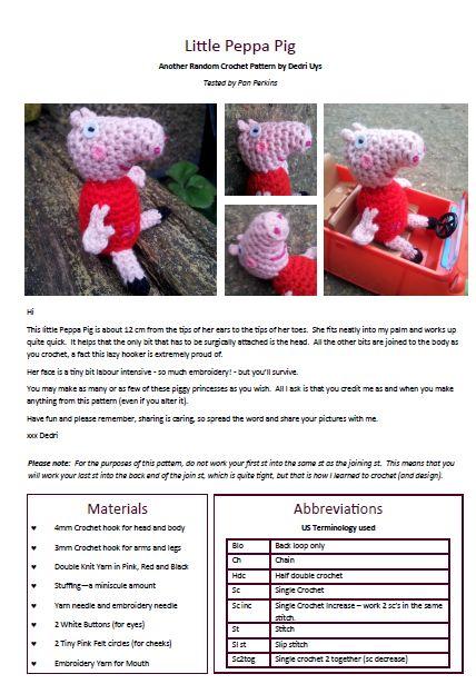 Free Amigurumi Patterns Star Wars : Little Peppa Pig Crochet Pattern.pdf Adobe Reader 20032013 ...