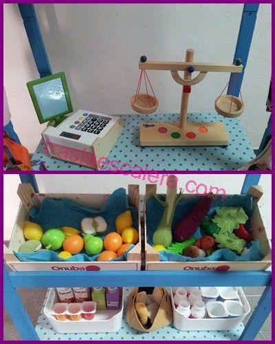 Mercado infantil hecho en casa