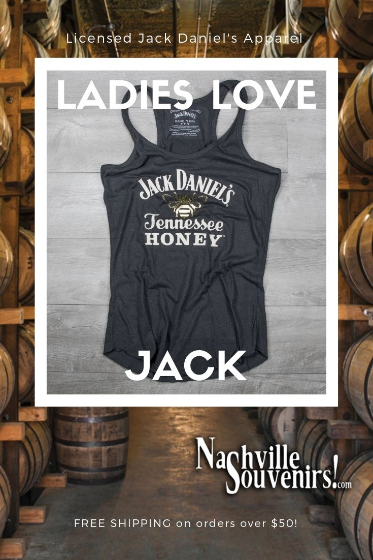 fe0bad702c572b This officially licensed ladies Jack Daniels Tennessee Honey Tank Top  featuring the Tennessee Honey and gold