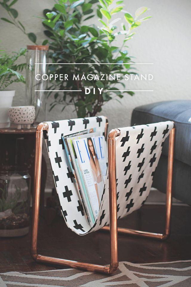Explicamos paso a paso este DIY de cómo crear tu propio revistero de cobre y tela de una forma fácil y muy barata, para decorar un poquito más tu hogar.