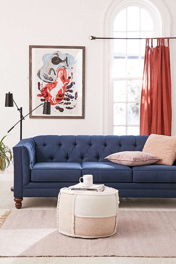 Slide View: 1: Graham Microfiber Sofa