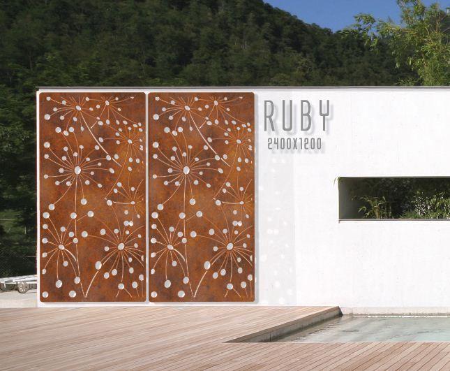 outdoor wall panel metal | ... Garden » Outdoor Accessories » Outdoor Art » Ruby Wall Panel/Screen