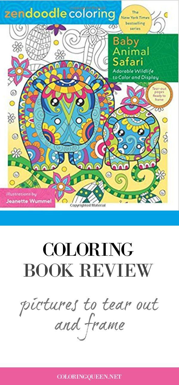 Zendoodle Coloring Baby Animal Safari Coloring Book Review Coloring Queen Safari Baby Animals Coloring Books Baby Animals