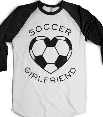 Soccer Girlfriend (Baseball Tee) - Sports Girl - Skreened T-shirts, Organic Shirts, Hoodies, Kids Tees, Baby One-Pieces and Tote Bags