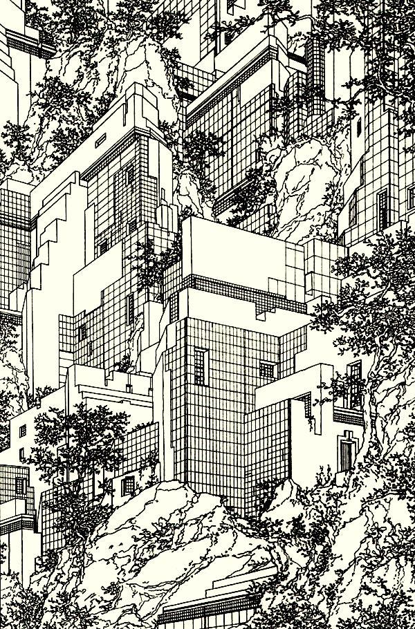Lebbeus woods, Architecture drawing
