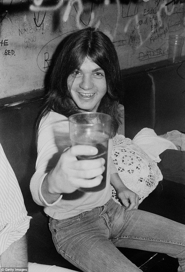 Young guy: Malcolm, a founding member of AC/DC, was the rhythm guitarist and backing vocalist