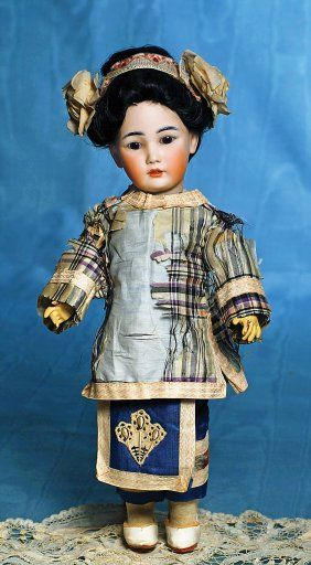 GERMAN BISQUE ASIAN CHILD, 1329, BY SIMON & HALBIG.