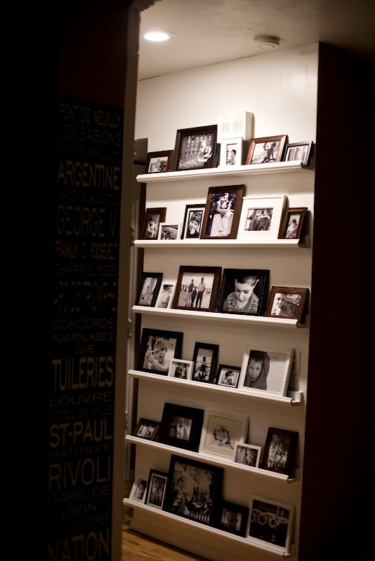 turn a small hallway into a photo-gallery