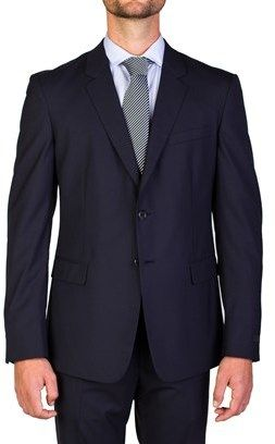 Prada Men's Virgin Wool Two-button Suit Navy Blue.