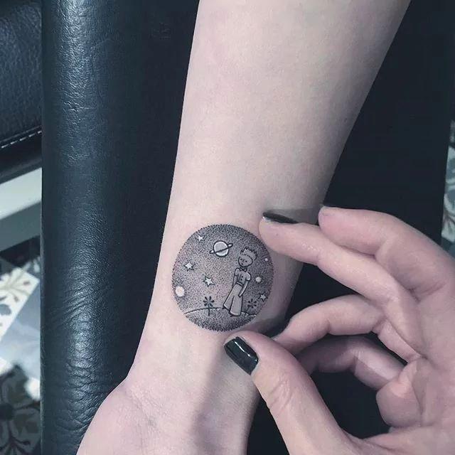The Little Prince tattoo by Eva #Miniature #mini #scenery #eva #thelittleprince More