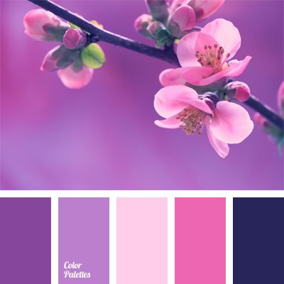 Bright And Delicate At The Same Time Colors Of This Palette Are Eye Catching Contrasting Violet Pale Pink Suit A
