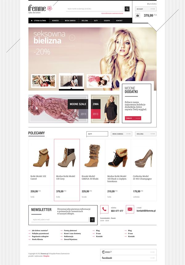 iFemme - fashion store by Mateusz Kolebuk, via Behance