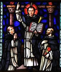 """Saint of the Day – 5 April – St Vincent Ferrer O.P. (1530-1419 aged 69) Religious Priest, Miracle-worker, Logician, Preacher, Missionary, Confessor, Teacher, Philosopher, Theologian known as the """"Angel of the Apocalypse"""" and the """"Mouthpiece of God"""" – ..........."""