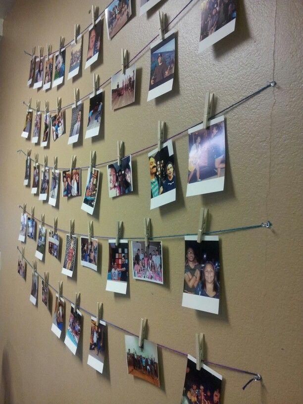 Photos From Our Youth Group Possibly Put Up Along A Wall