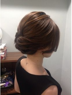 brunette/braidless/withoutbraid/updo/lowbun