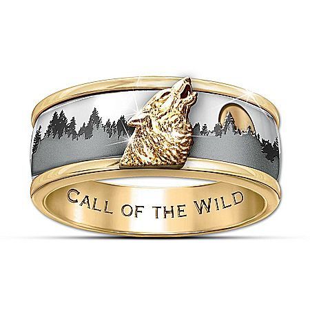 9 best Wolf Wedding rings images on Pinterest Male rings Men