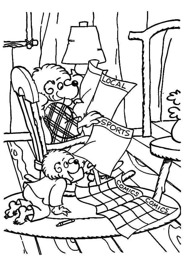 berenstain bears coloring pages coloring books - Berenstain Bears Coloring Book