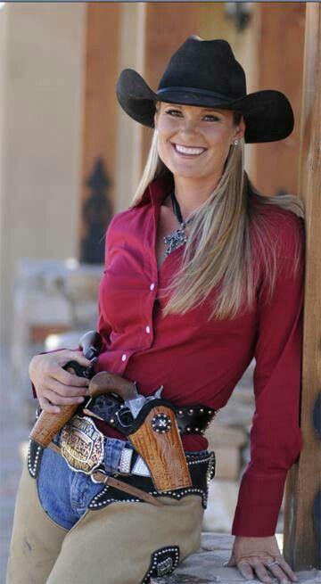 World Champion  Mounted Shooting Cowgirl  Kenda Lenseigne