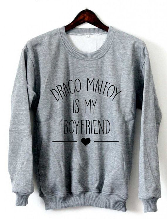 Draco Malfoy Is My Boyfriend Sweatshirt Crewneck Black by Xianshop