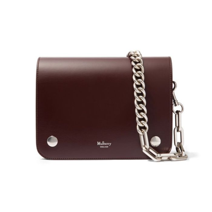Rank & Style | Mulberry Clifton Textured-Leather Shoulder Bag