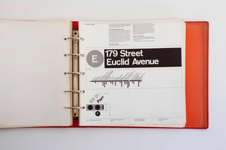 Photos of the NYCTA Graphics Standards Manual