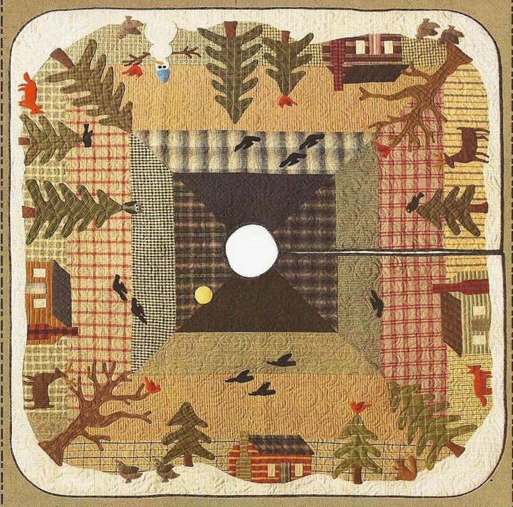 Primitive Folk Art Quilt Pattern Best Of All : Primitive Folk Art Quilt/Wool Applique Pattern: by PrimFolkArtShop - think I will make this ...