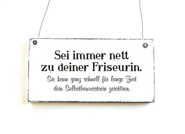 Dekoschild DEINE FRISEURIN Bestellbar hier: www.doerpkind.de