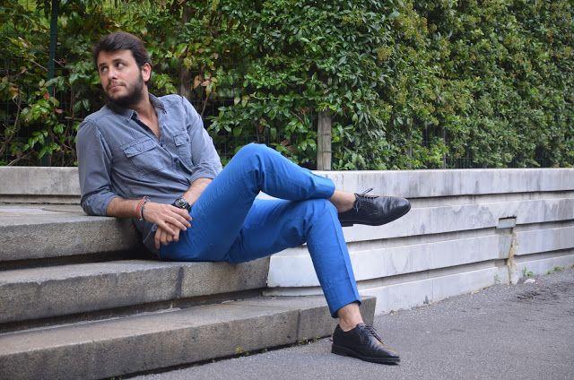 Go Bold!   Royal Blue Pants ~ The Bespoke Dudes by Fabio Attanasio